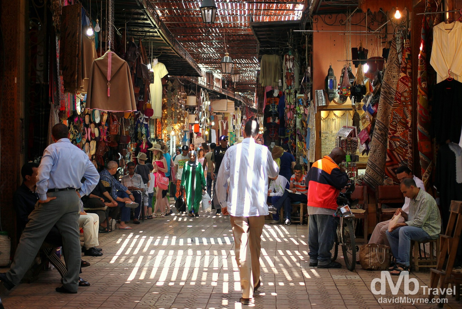 In one of the countless labyrinth souqs (covered markets) in Marrakesh, Morocco. May 8th, 2014.