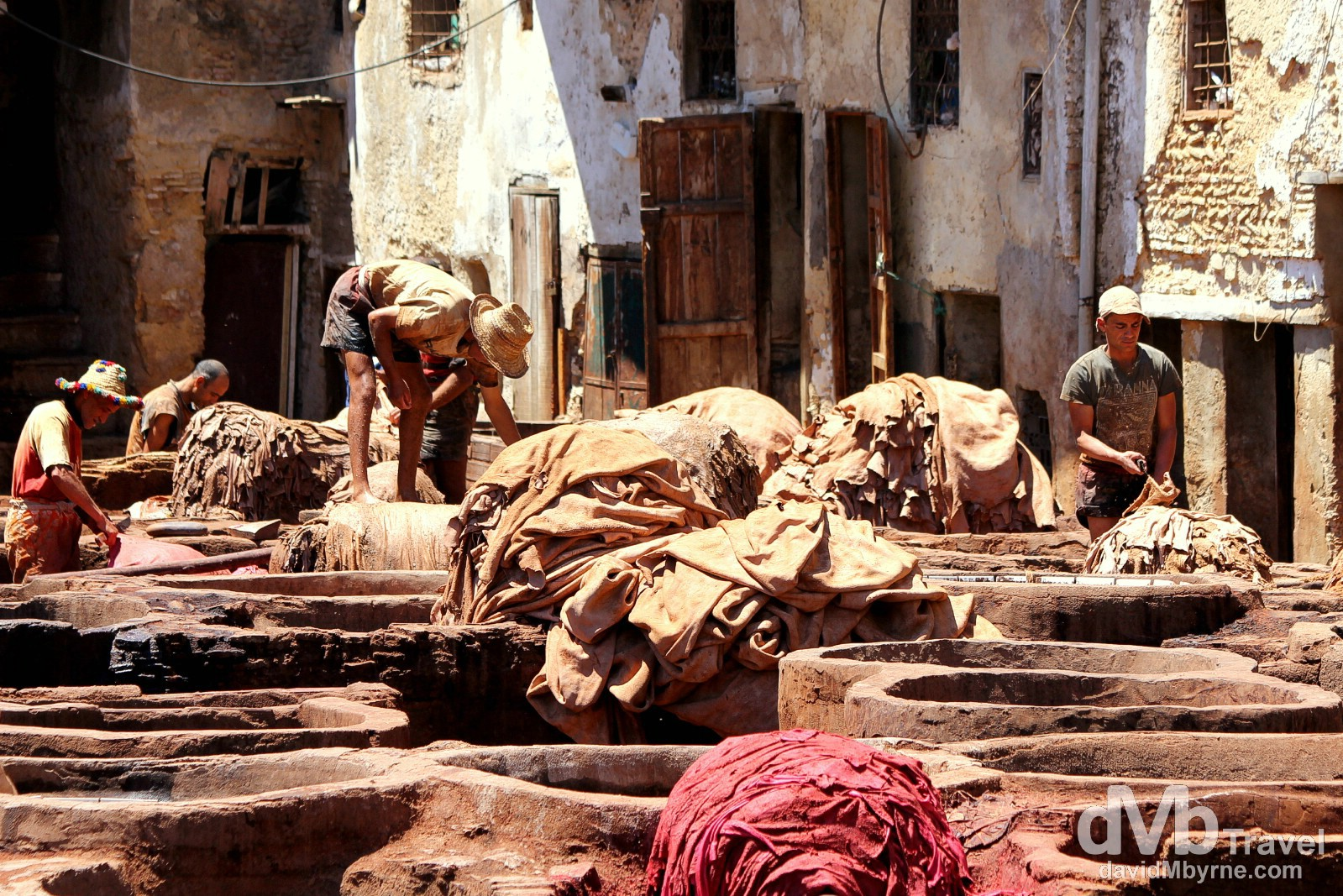 Tanneries Chouwara, Fes el Bali, Fes, Morocco. May 29th, 2014.