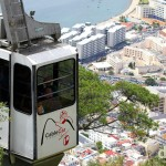 The Cable Car leaving the top station of The Upper Rock Nature Reserve in Gibraltar. June 5th, 2014.