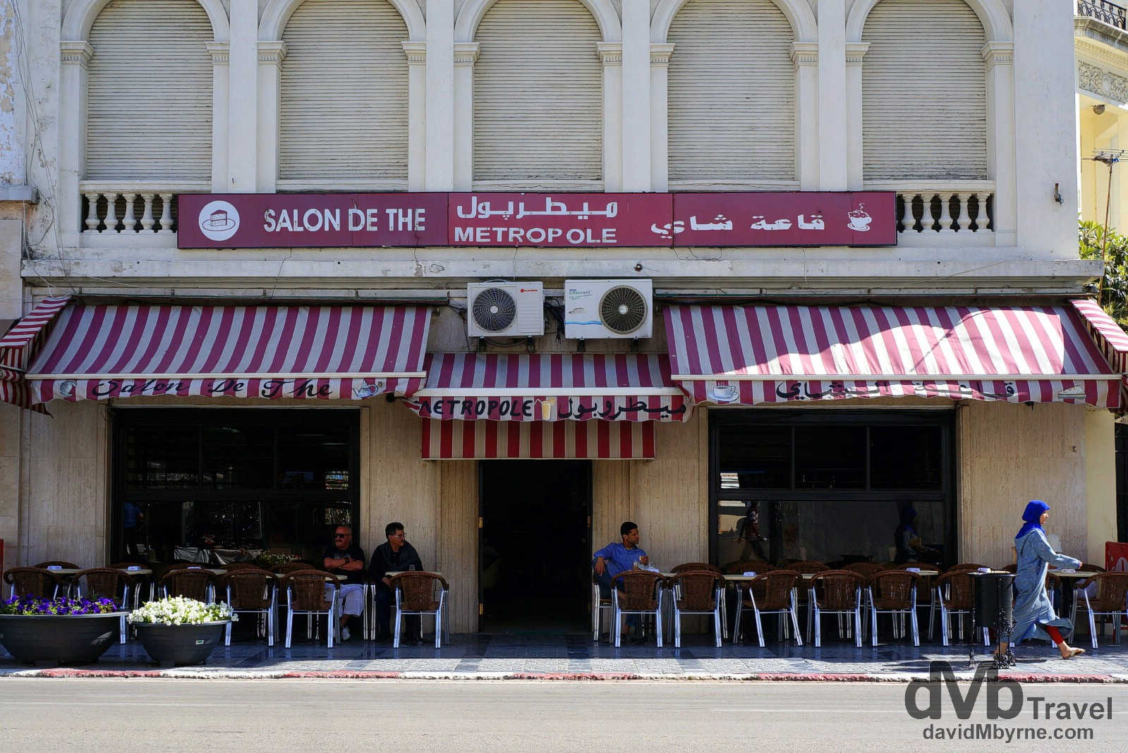 Cafe Metropole, Boulevard Pasteur, Tangier, Morocco. June 4th, 2014.