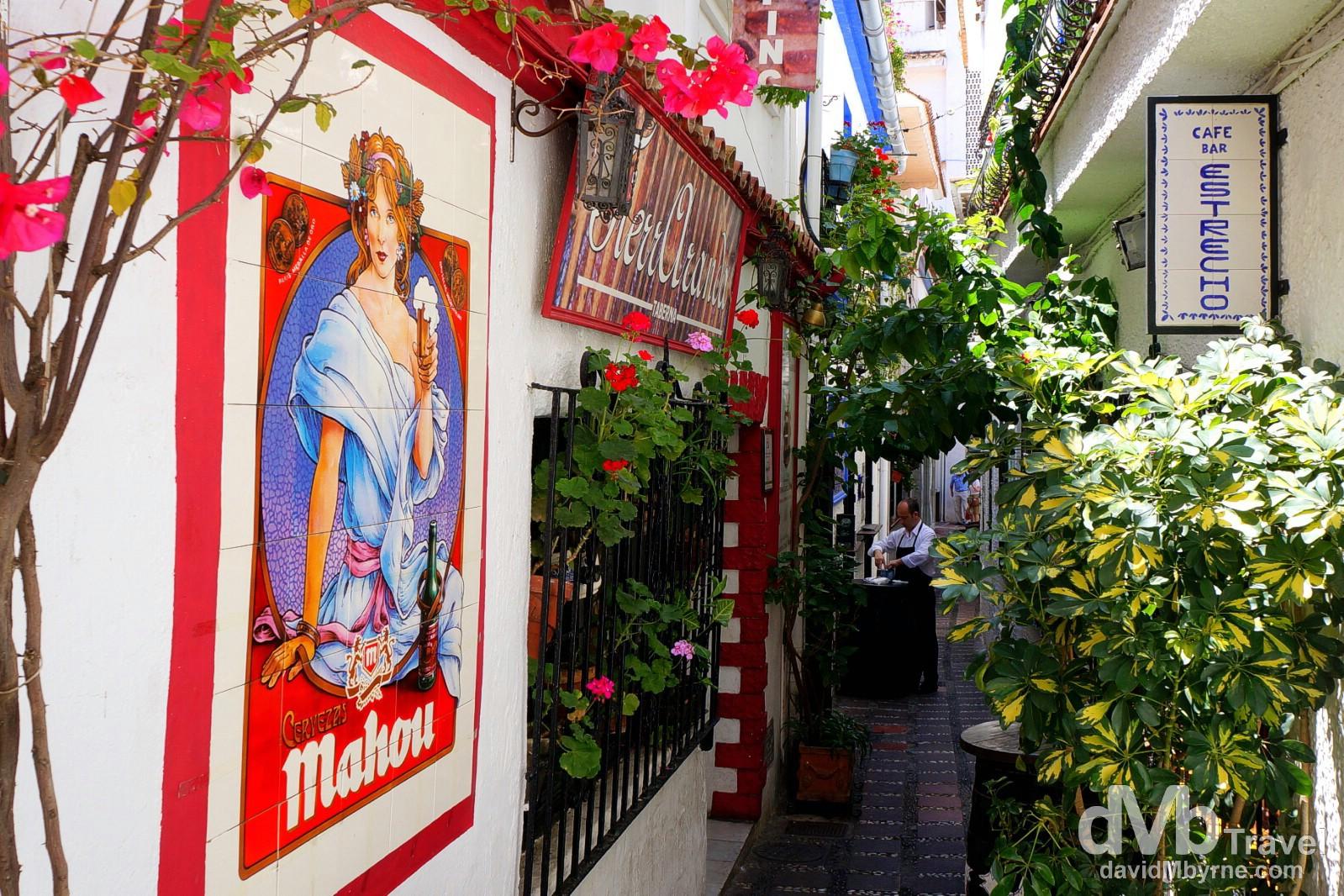 Calle Pantaleon, Marbella, Andalusia, Spain. June 7th, 2014.