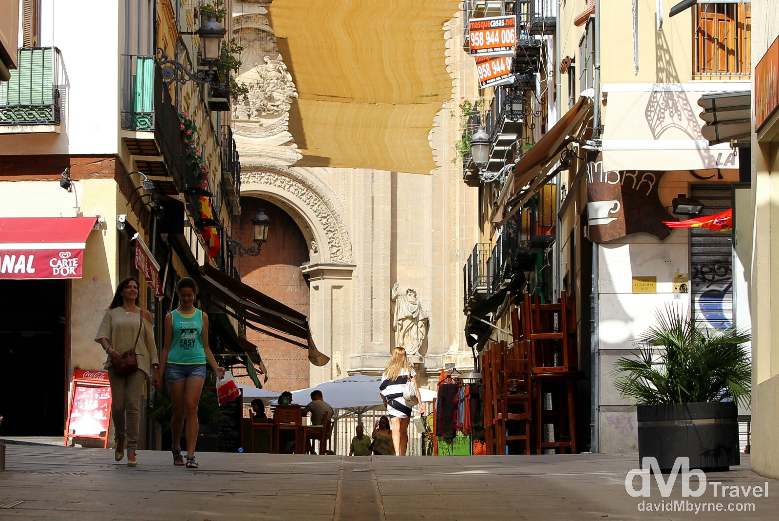 Calle Paz, Granada, Andalusia, Spain. June 11th, 2014.