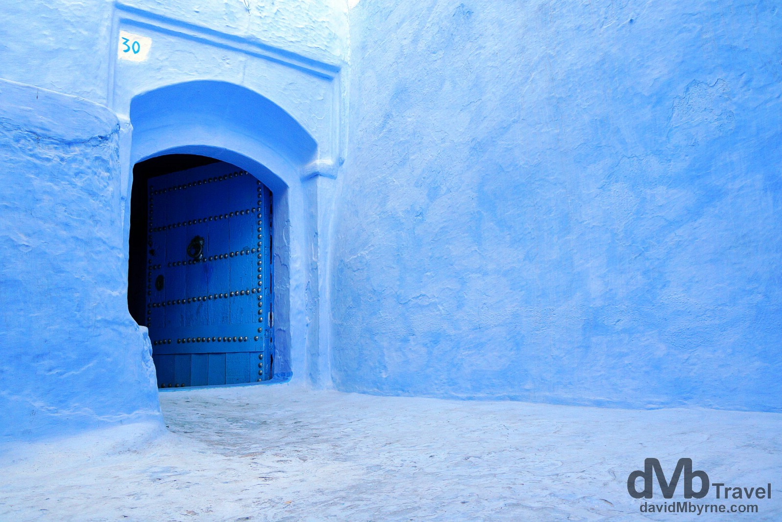 Feeling blue in the lanes of the medina in Chefchaouen, Morocco. May 31st, 2014.