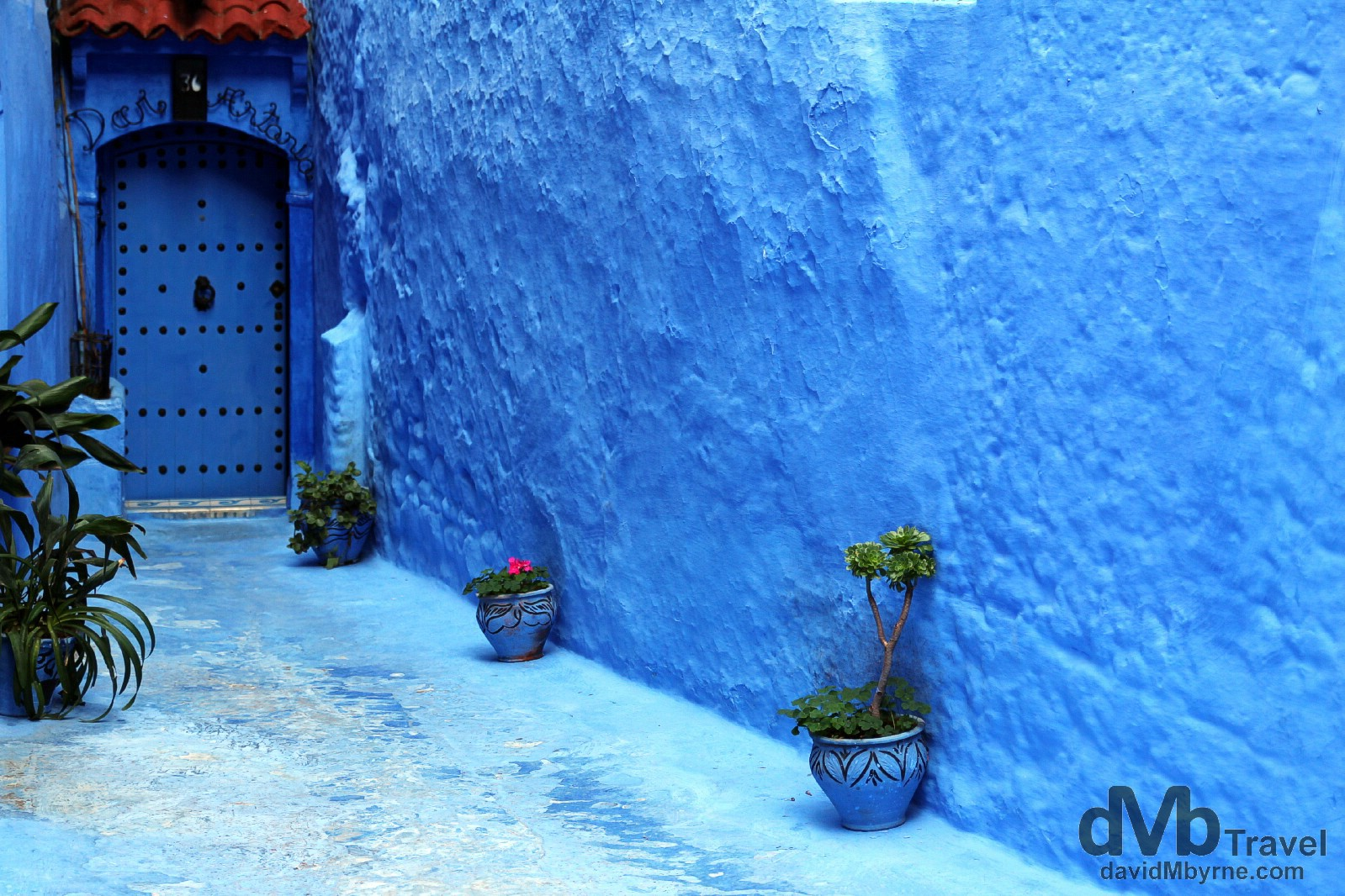 The lane to the Dar Antonio guest house in the medina in Chefchaouen, Morocco. June 1st, 2014.