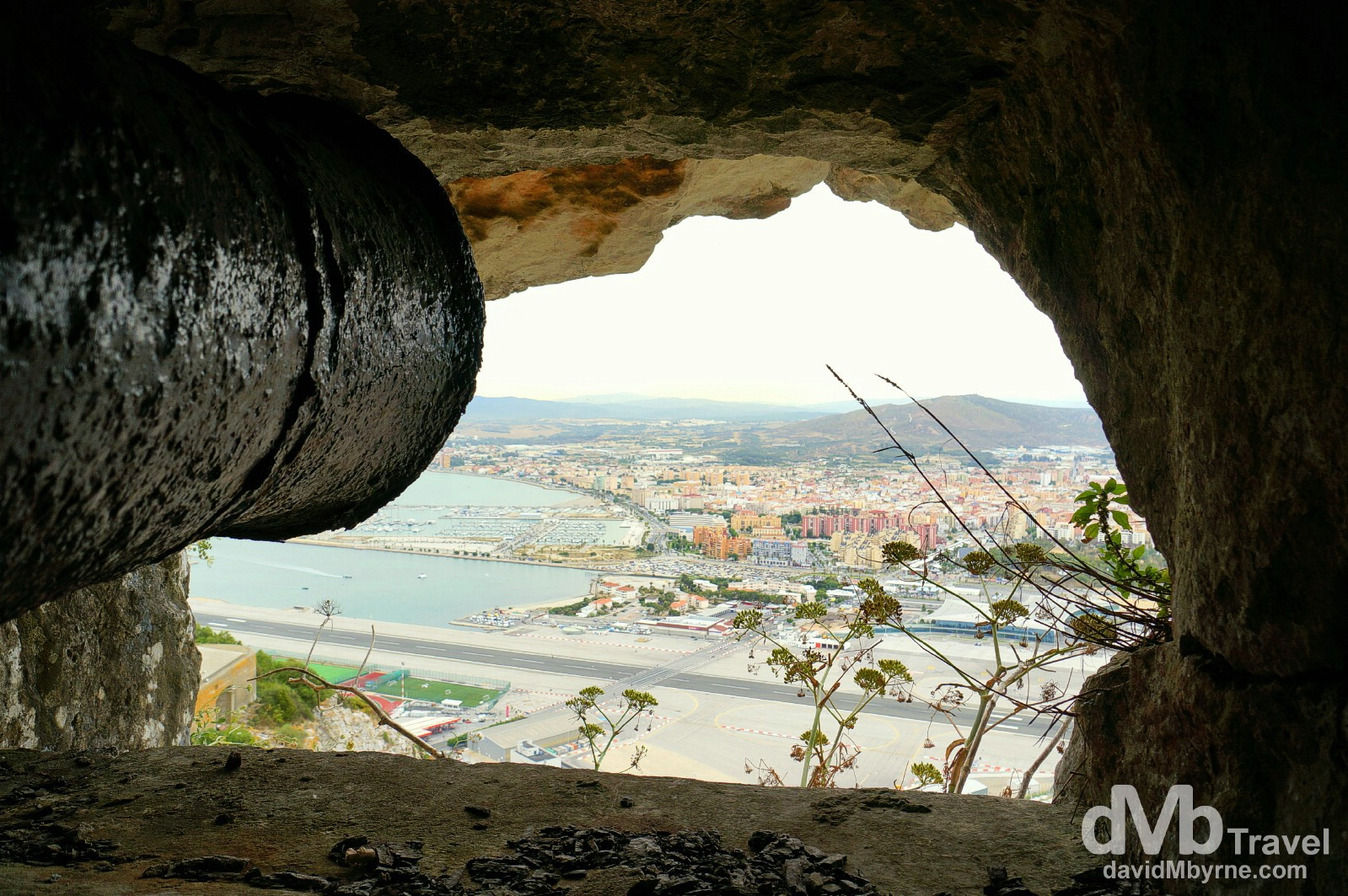 Looking out from one of the openings in the Great Siege Tunnels in The Upper Rock Nature Reserve, Gibraltar. June 5th, 2014.