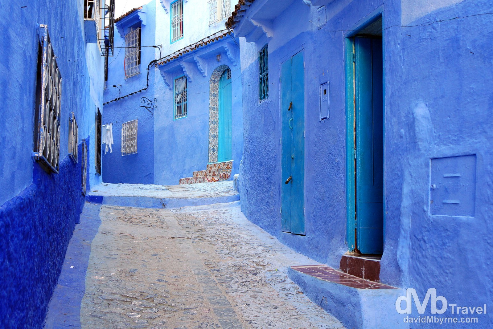 A lane in the medina of Chefchaouen, Morocco. May 31st, 2014.