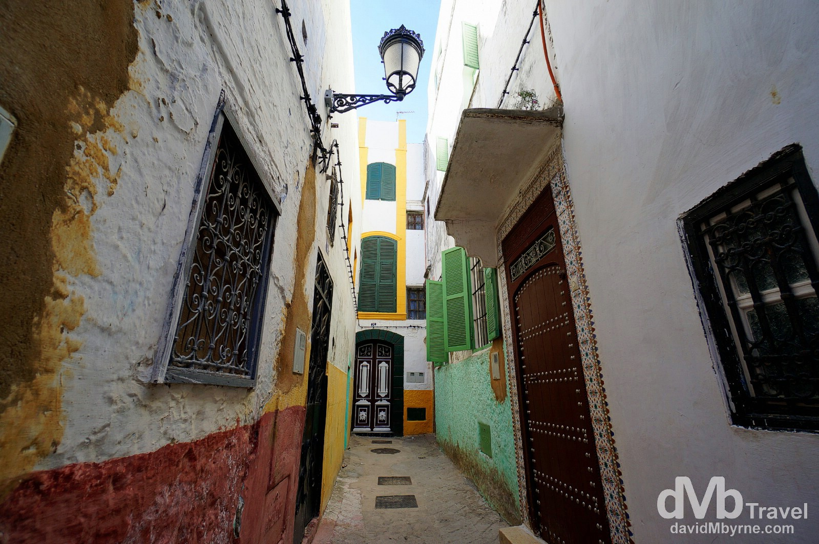 Andalusian overtones in a narrow lane in the UNESCO-listed medina of Tetouan, Morocco. June 2nd, 2014.