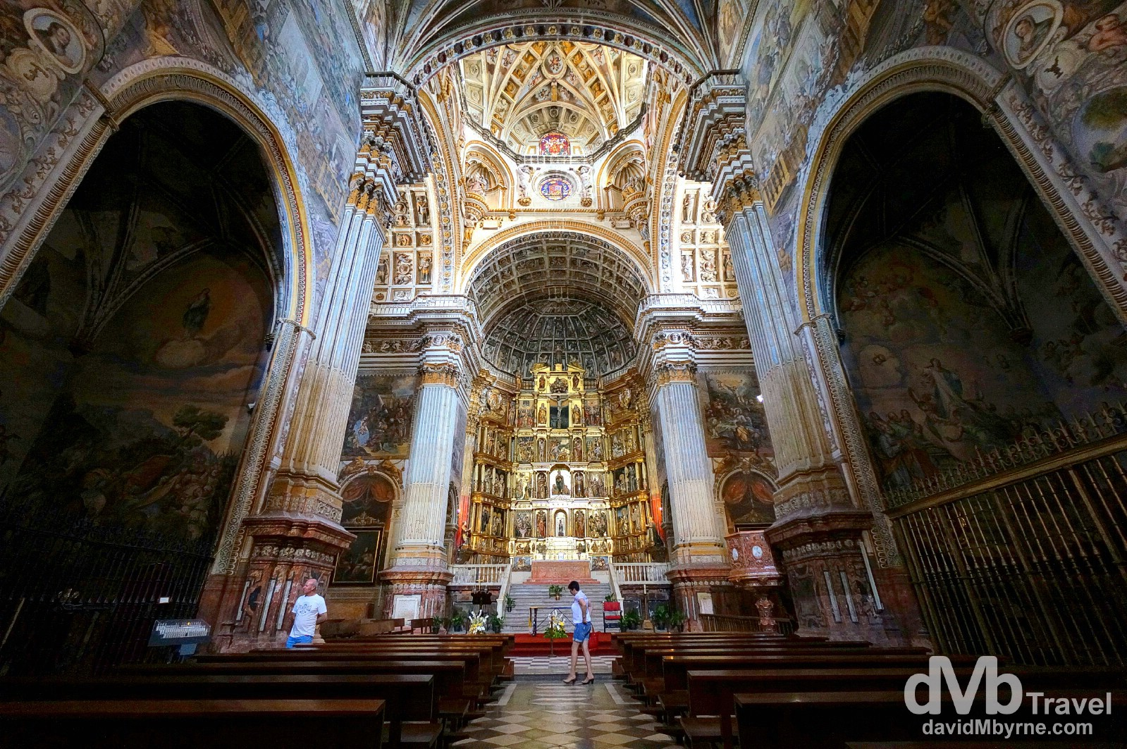 The church of the Monasterio de San Jeronimo in Granada, Andalusia, Spain. June 11th, 2014.