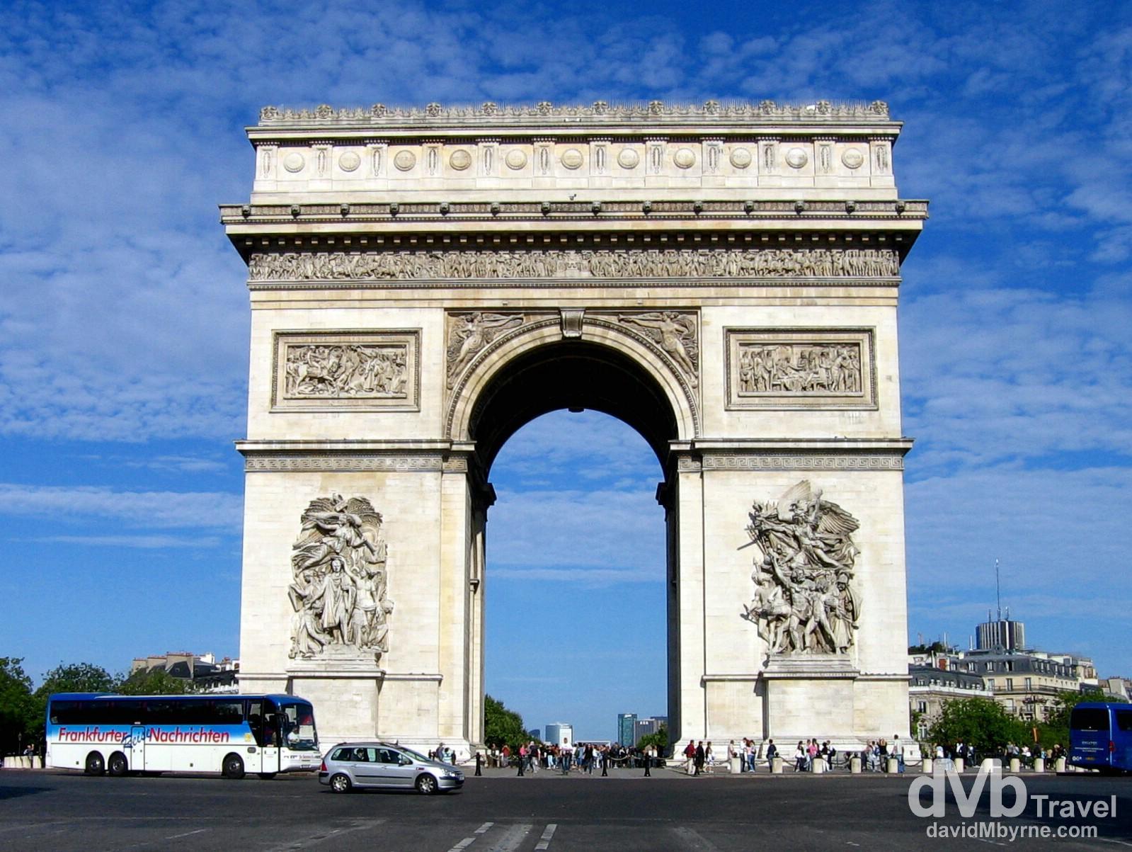 Arc de Triomphe, Paris, France. August 18th, 2007.
