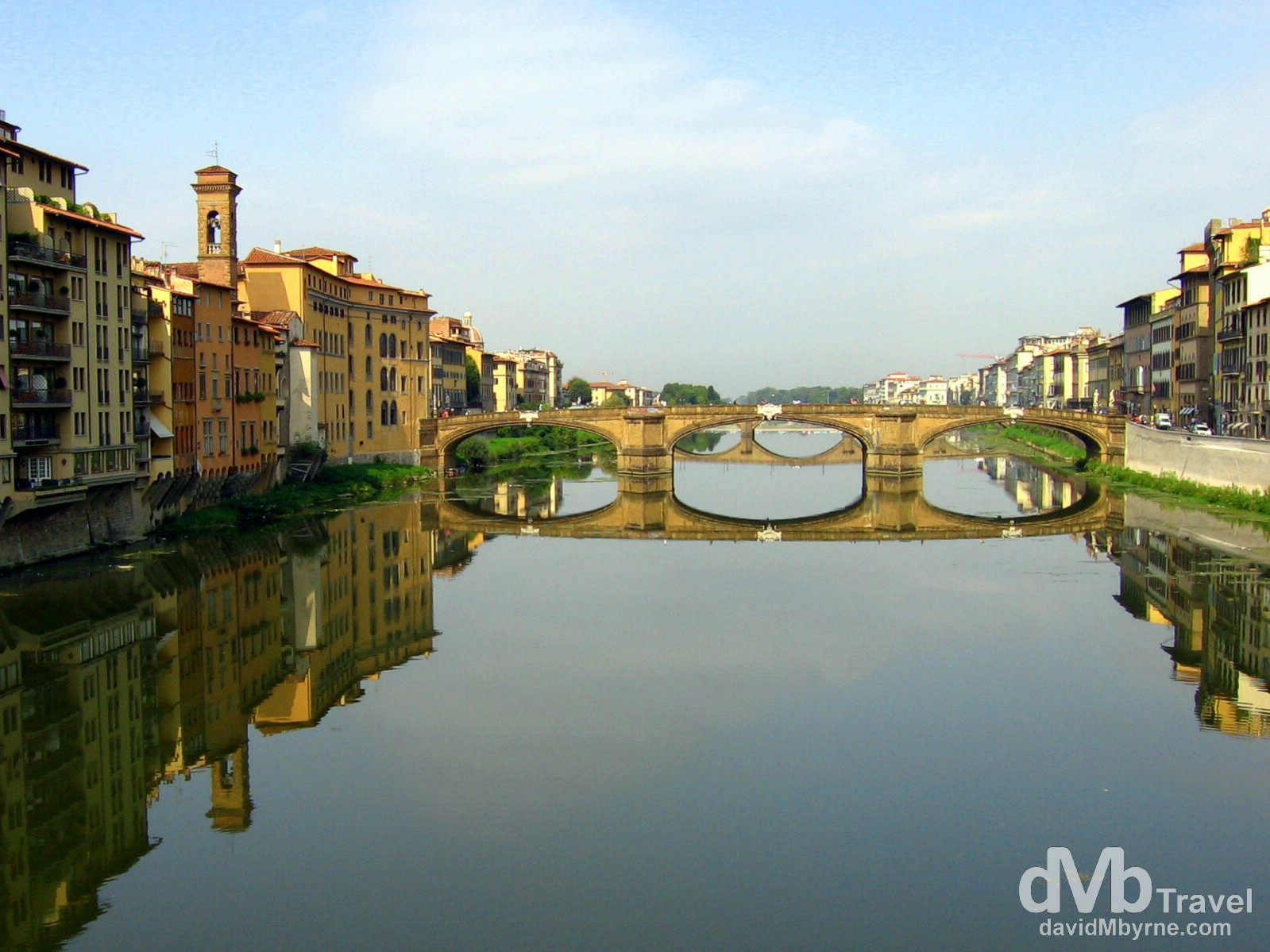 The Arno River in Florence, Tuscany, Italy. August 30th, 2007.