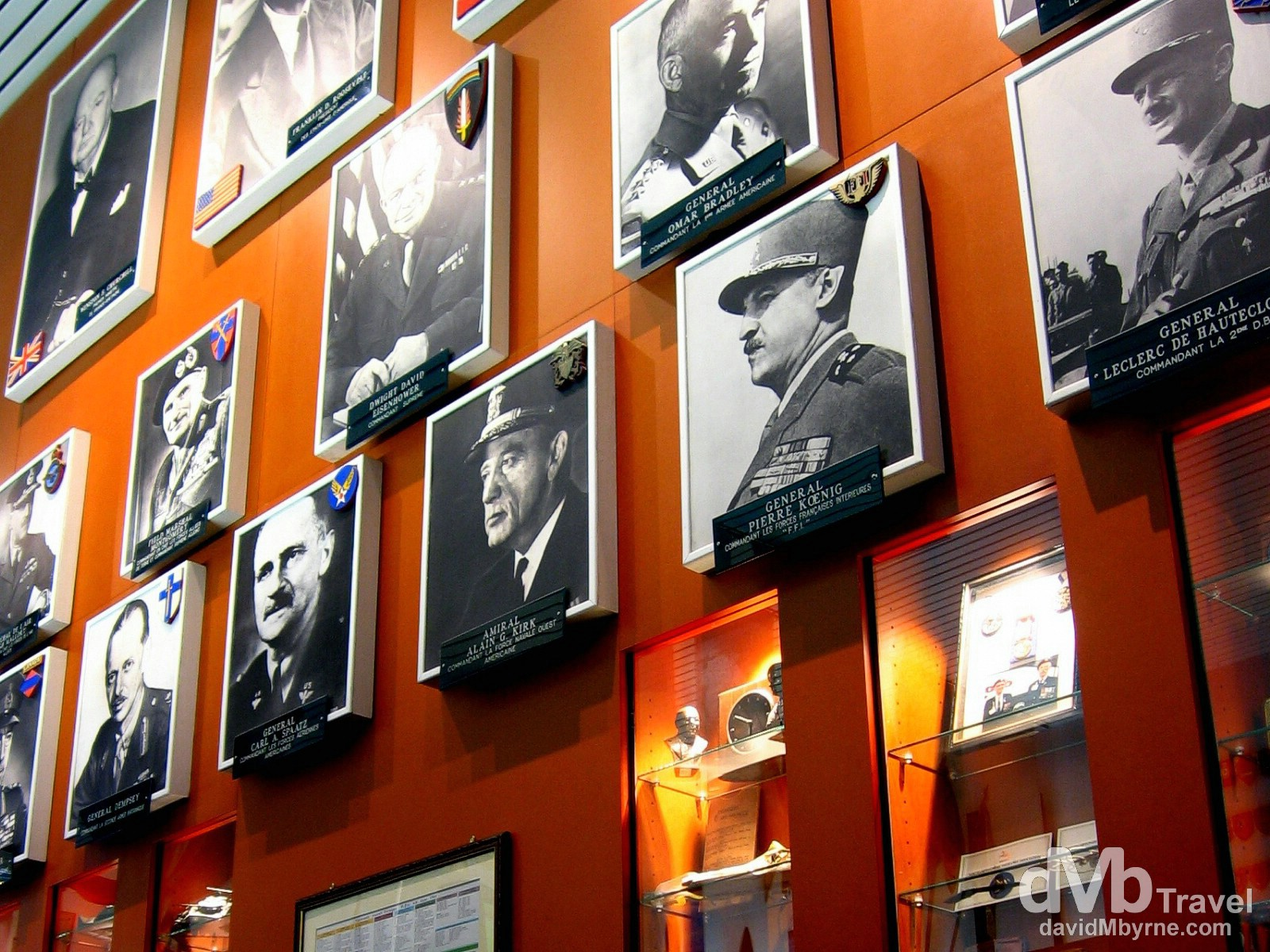 Allied military chiefs on display in the Arromanches Museum, Arromanches, Normandy, France. August 16th, 2007.