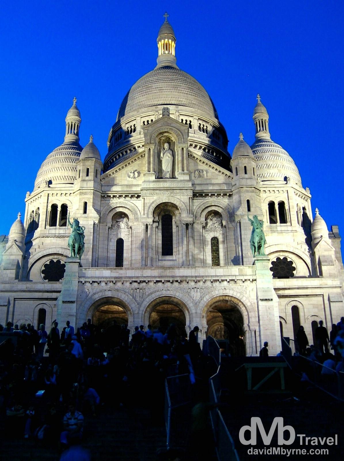 Basilique du Sacre Coeur, Montmartre, Paris, France. August 17th, 2007.