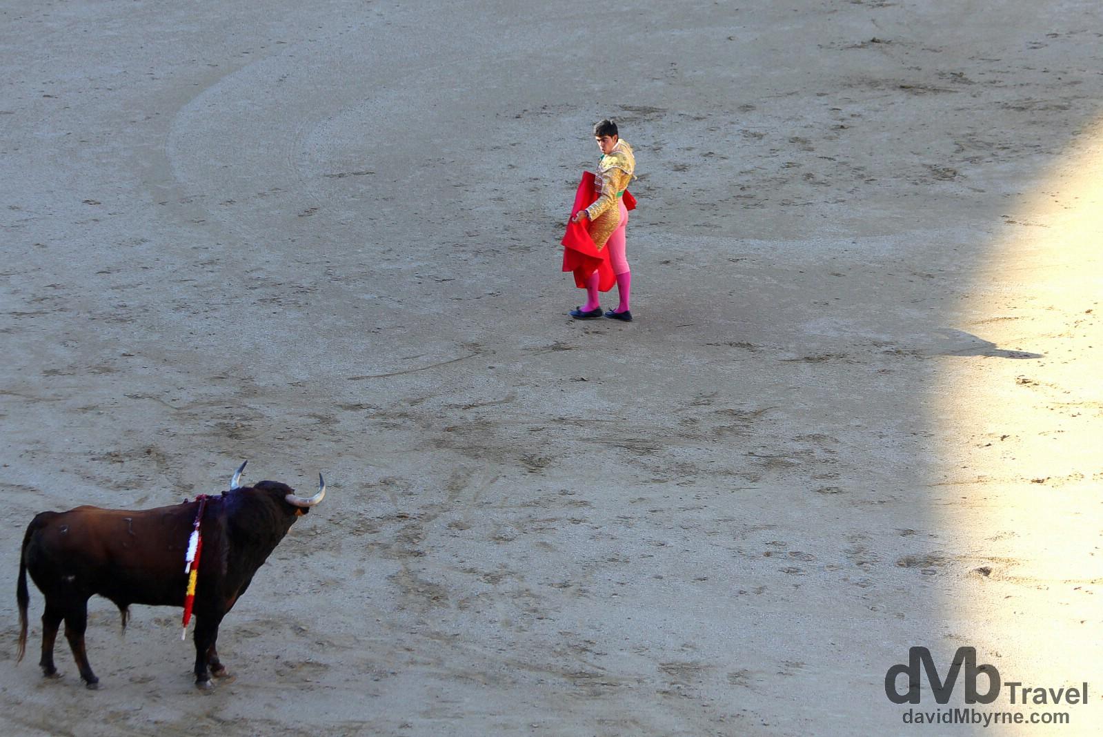 Bullfighting in Plaza de Toros, Las Ventas, Madrid, Spain. June 15th, 2014.