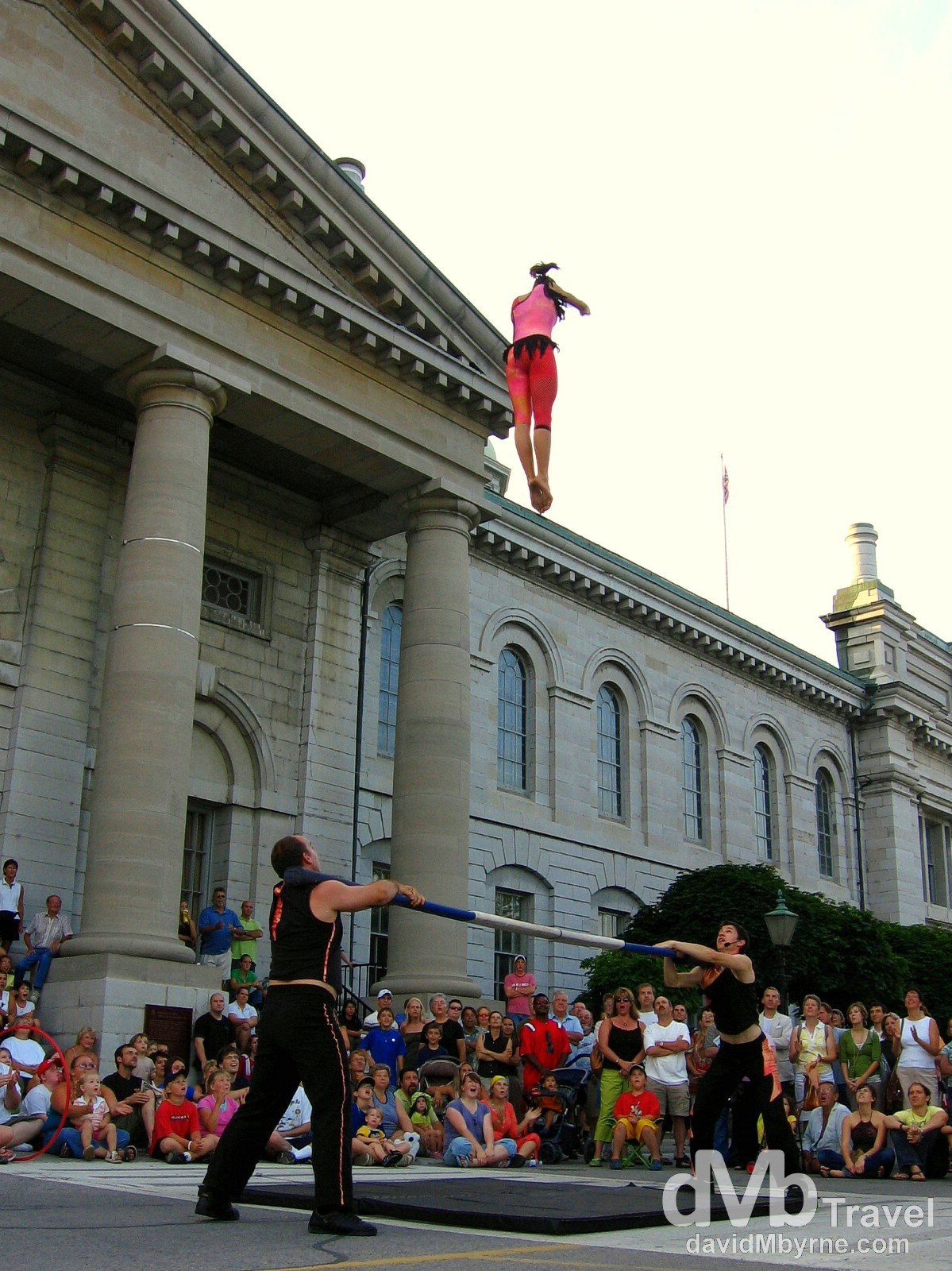 Buskerfest performers wow the crowds in front of City Hall in Kingston, Ontario, Canada. July 13th, 2006.