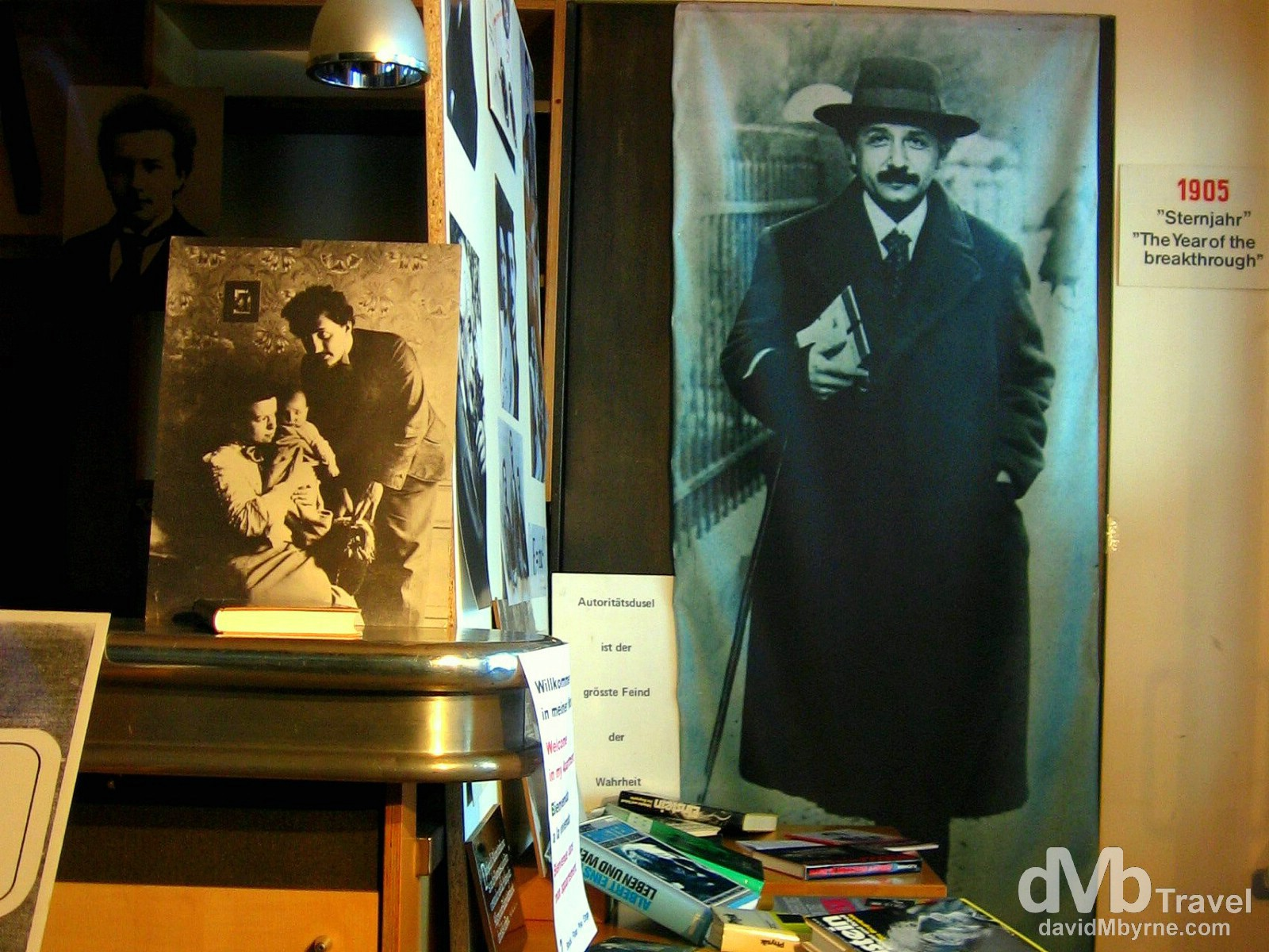A display in Einstein-Haus, the apartment & workplace of the famous scientist in Old Town, Bern, Switzerland. August 23rd, 2007.