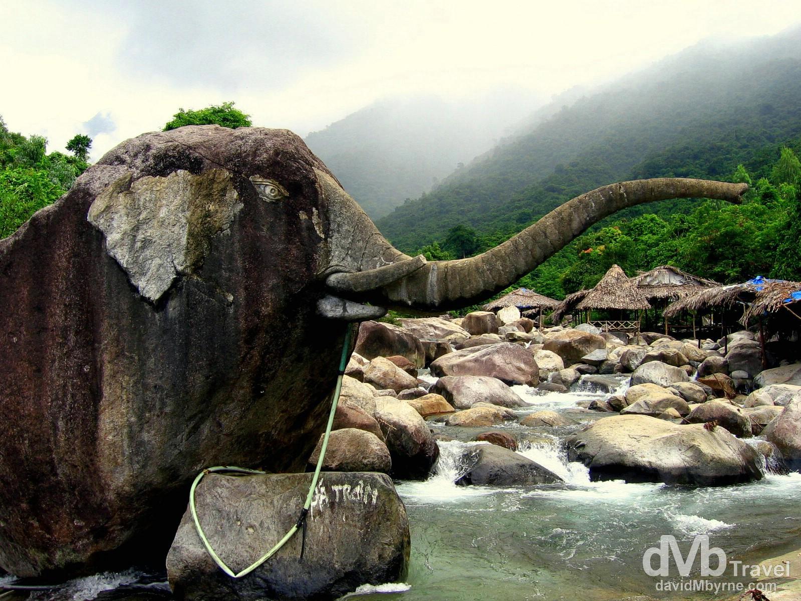 Suoi Voi (Elephant springs) in Bach Ma National Park, Central Vietnam. September 8th, 2005.