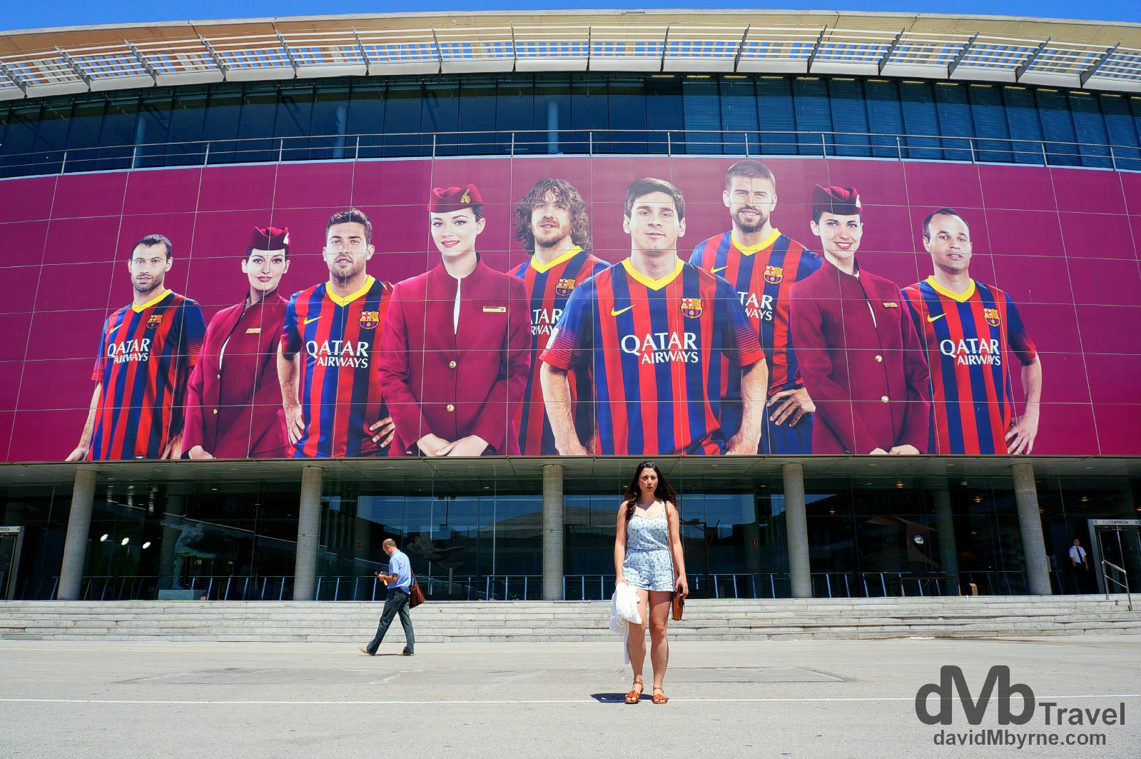 Fronting Europe's largest sports stadium, Estadi Camp Nou in Barcelona, Spain. June 18th, 2014.