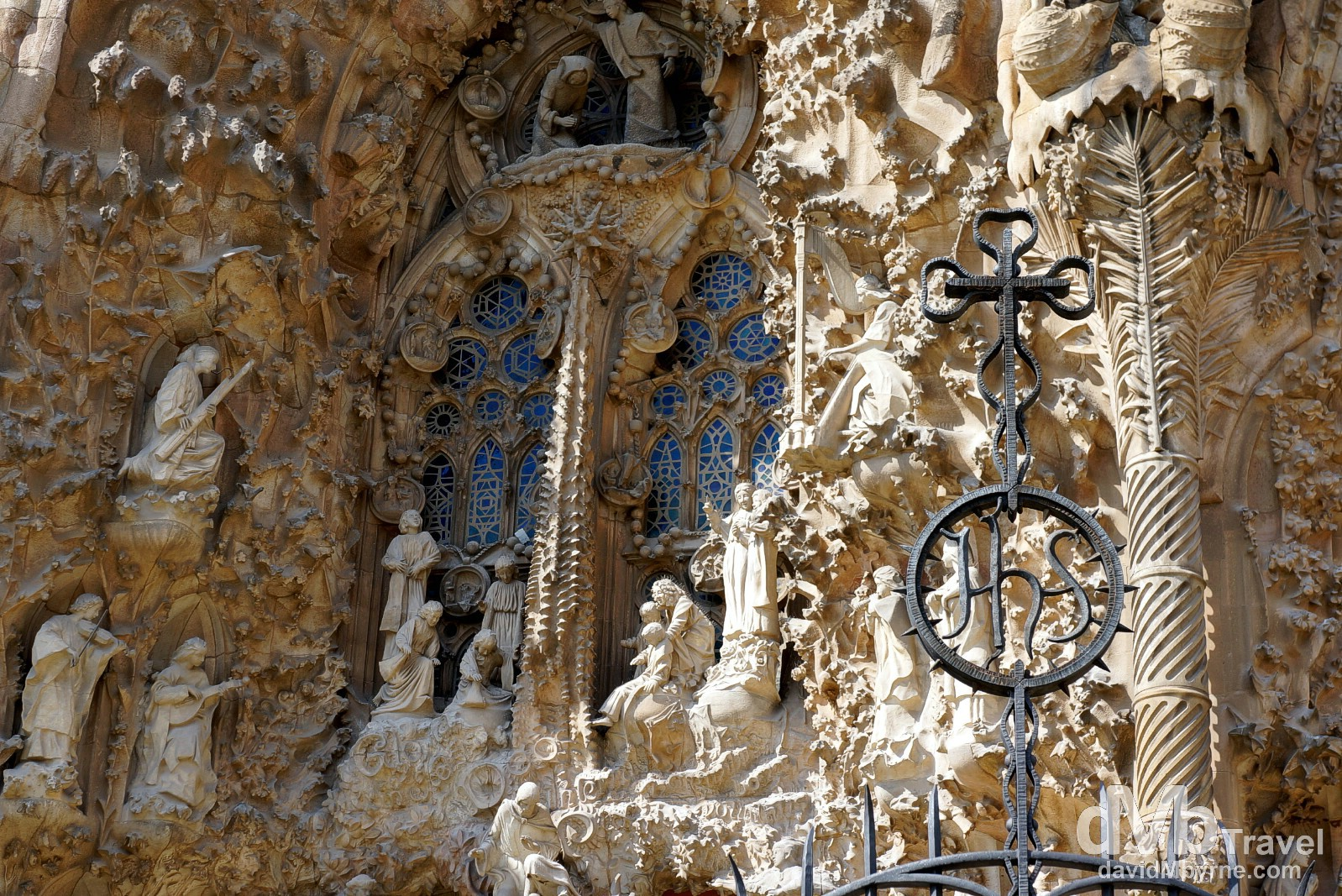 A section of the amazing Nativity facade of the UNESCO-listed Sagrada Familia in Barcelona Spain. June 18th, 2014.