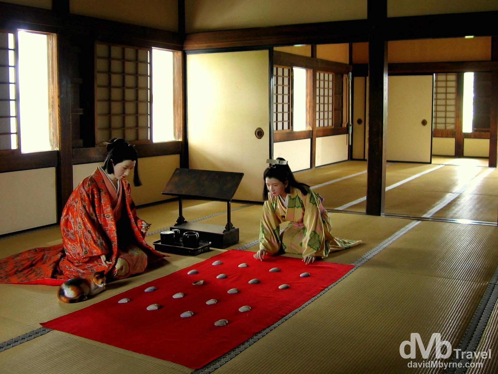 A reenactment of royal life in Himeji Castle, Himeji, Honshu, Japan. July 21st, 2005.