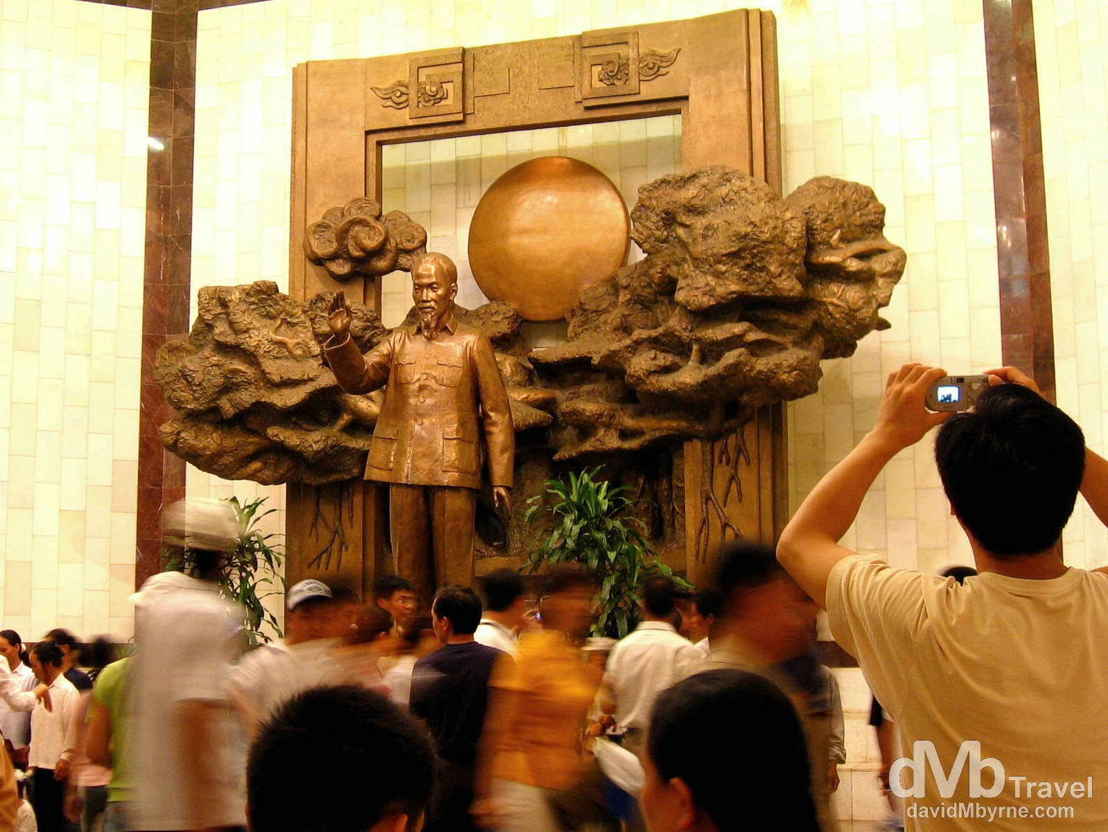 The lobby of the Ho Chi Minh Museum in Hanoi, Vietnam. September 6th, 2005.