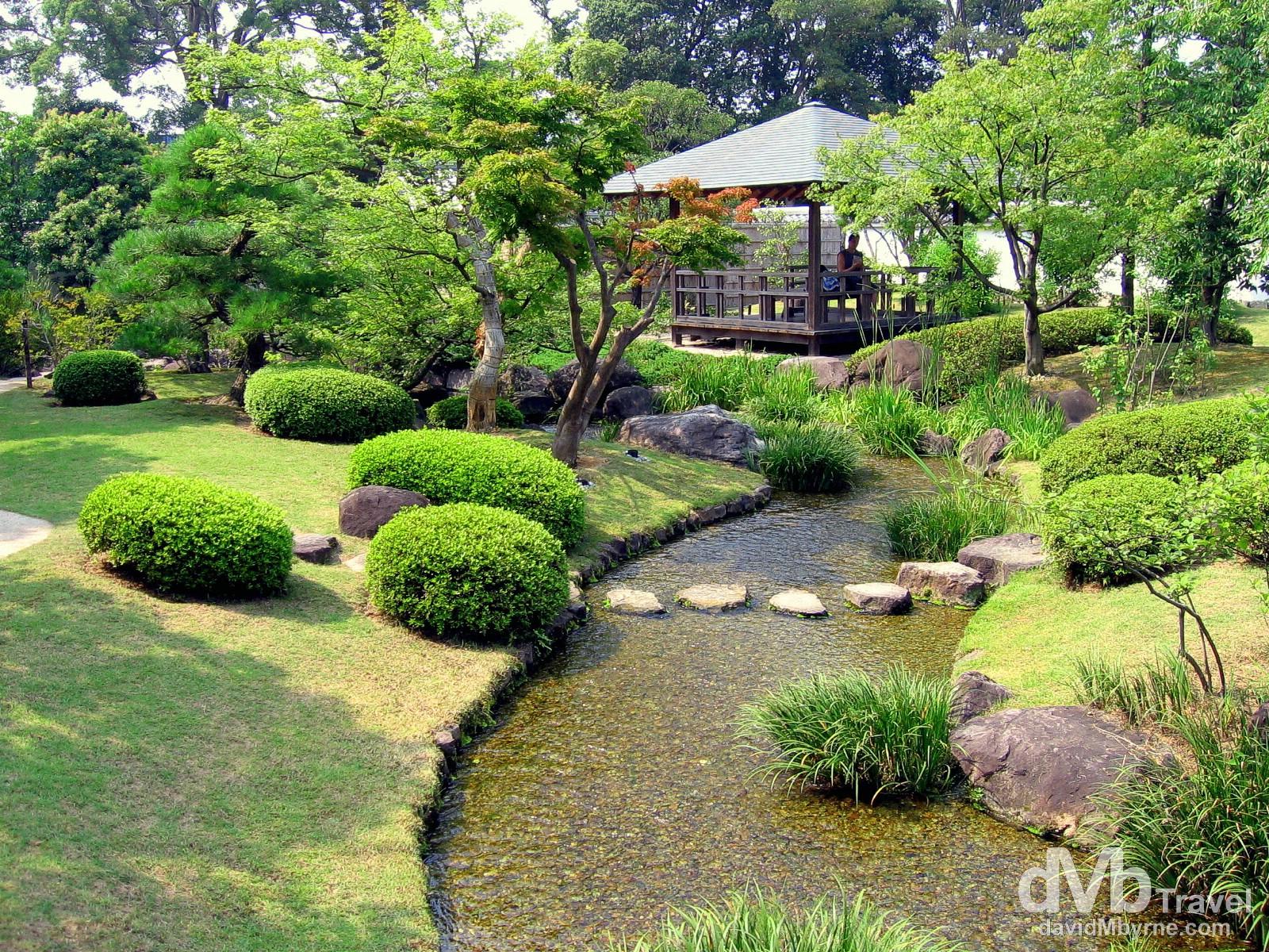 Koko-en Gardens in Himeji, Honshu, Japan. July 21st, 2005.