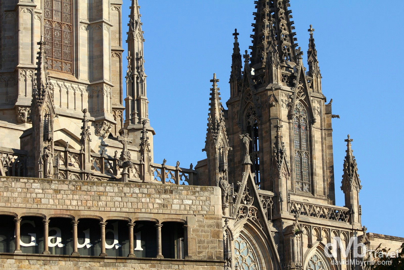 Detail of La Catedral in Barri Gotic, Barcelona, Spain. June 16th, 2014.