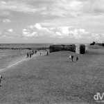 German coastline battlements in Longues Sur Mer, Normandy, France. August 16th, 2007.
