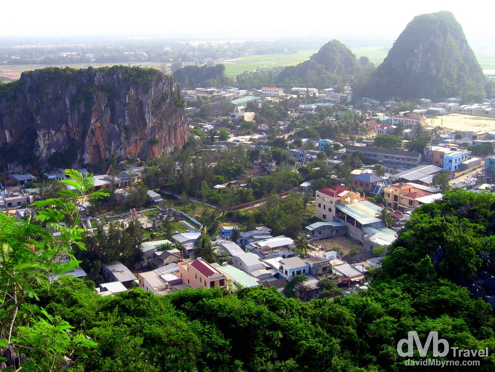 A section of the Marble Mountains outside Danang, Central Vietnam. September 10th 2005.
