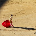 A Matador in action in Plaza de Toros, Las Ventas, Madrid, Spain. June 15th, 2014.