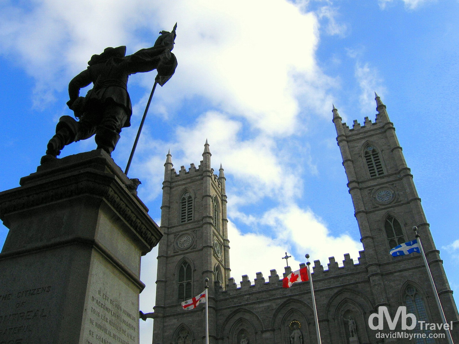 Place D'Armes, Old Montreal, Quebec, Canada. November 18th, 2005.