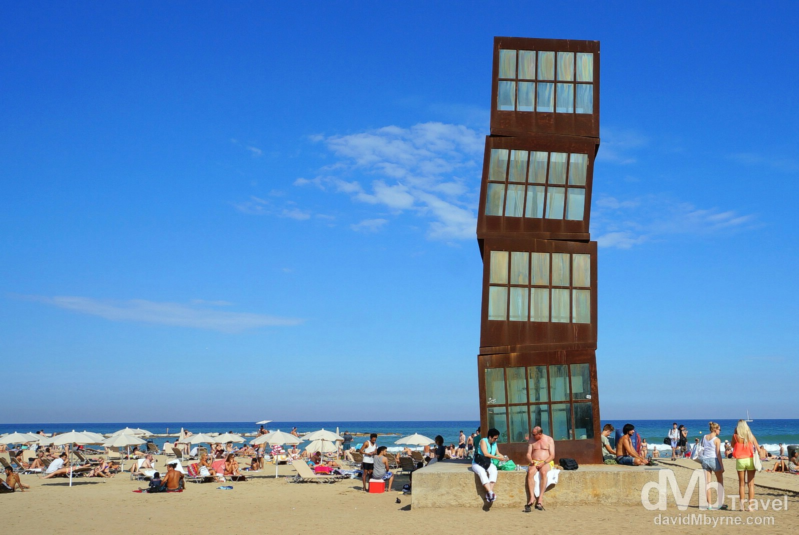 Platja de la Barceloneta, Barcelona, Spain. June 16th, 2014.