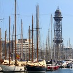 The Marina of Port Vell, Port de Barcelona, Barcelona, Catalonia, Spain. June 16th, 2014.