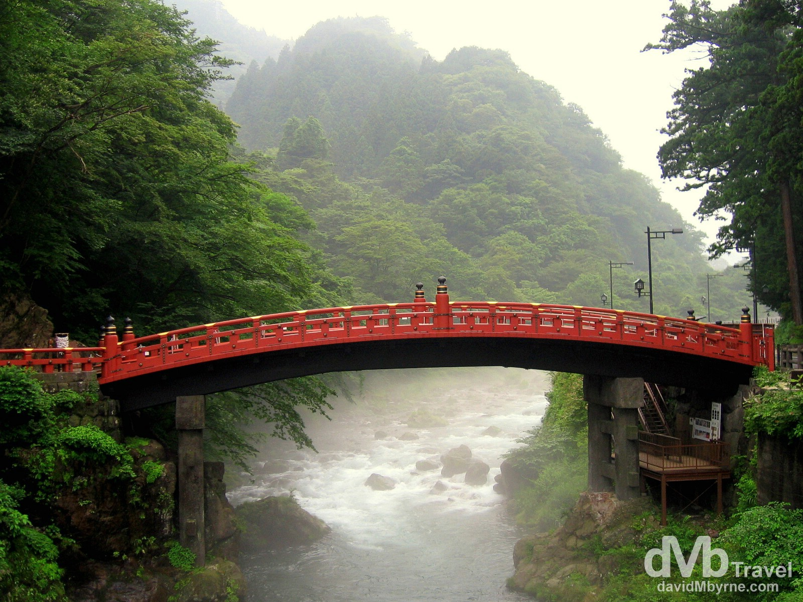 Shinkyo Bridge, Nikko, Honshu, Japan. July 16th, 2005.