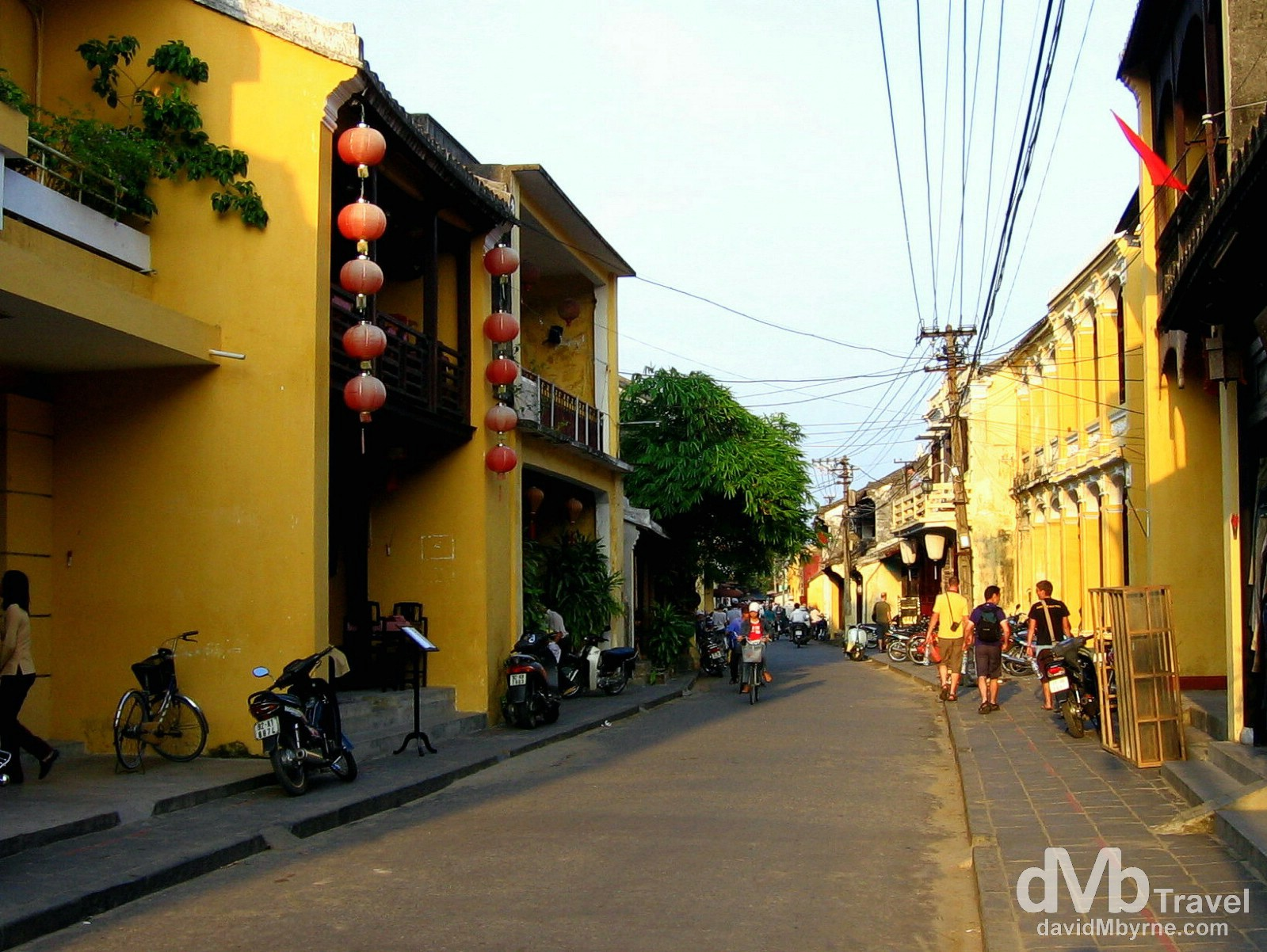 On the streets of the yellow streets of the UNESCO-listed Hoi An Ancient Town in central Vietnam. September 11th, 2005.