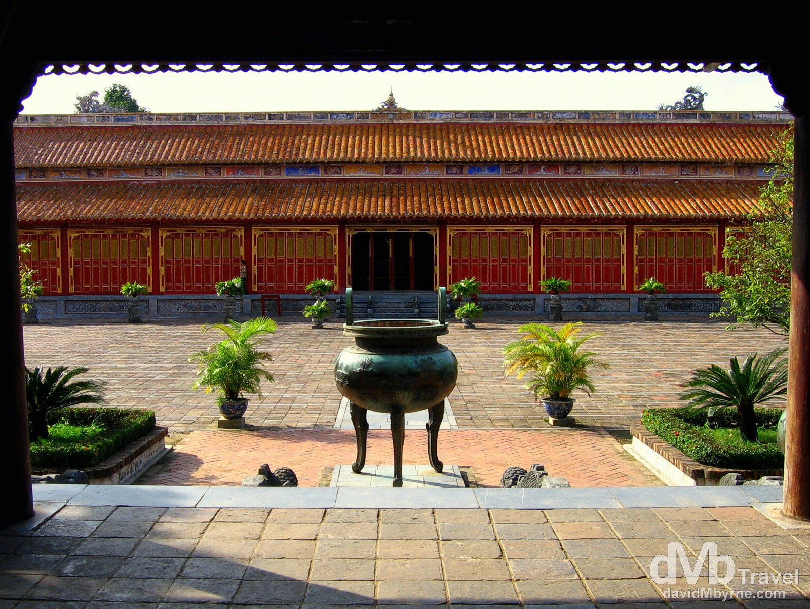 In the grounds of the ancient UNESCO-listed Citadel in Hue, Central Vietnam. September 7th, 2005.