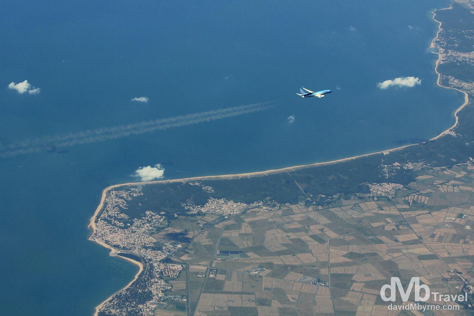 As seen from Ryanair flight FR6874 en route from Barcelona's El Prat Airport to Dublin, Ireland. June 19th, 2014.