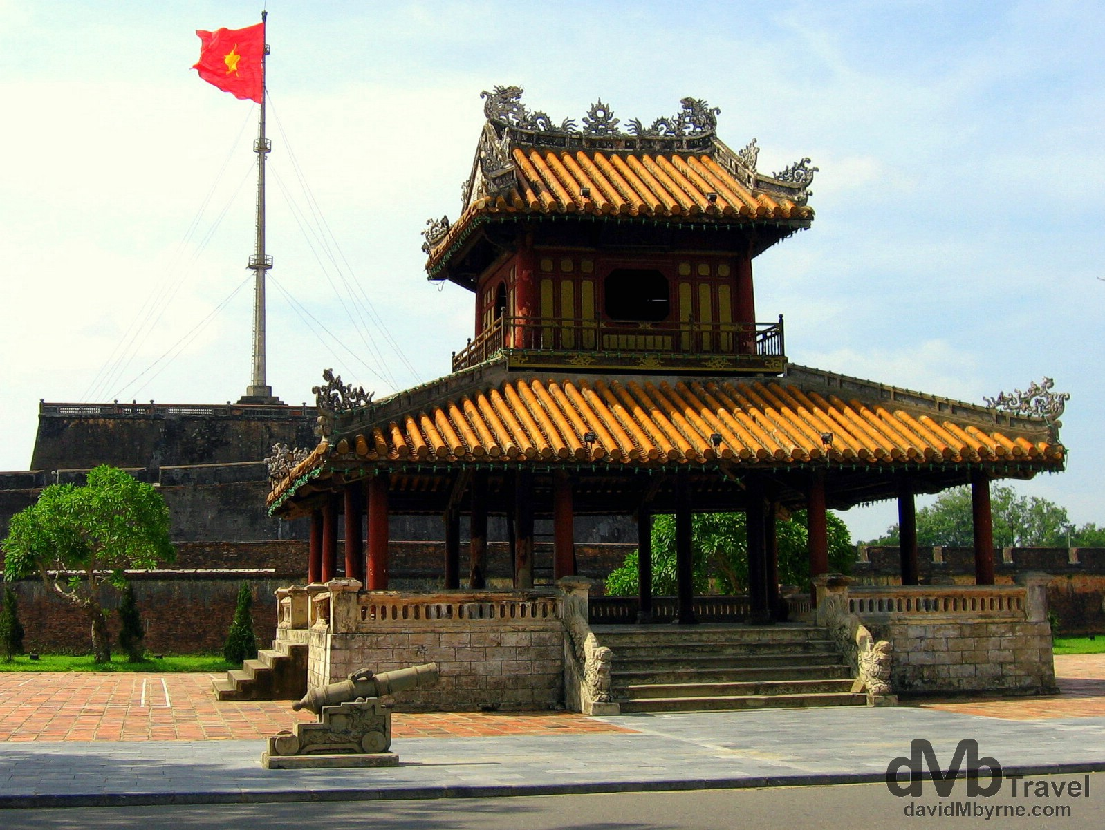 Fronting the UNESCO-listed Citadel in Hue, central Vietnam. September 7th, 2005.