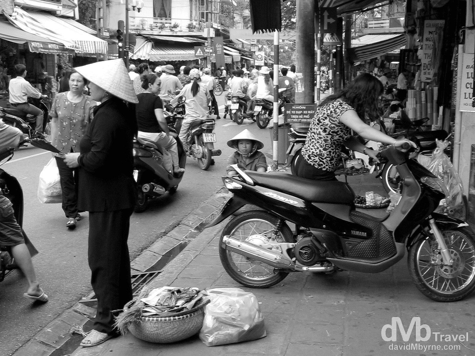 Activity in a busy section of the Old Quarter in Hanoi, Vietnam. September 5th 2005.