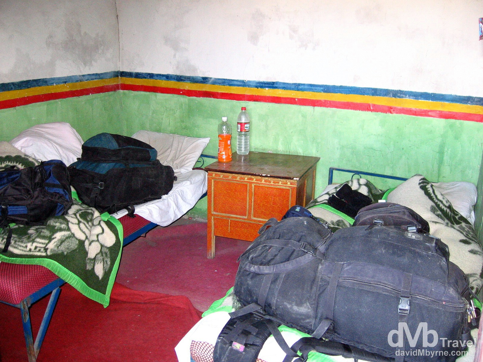 Amdo Hotel room, Tingri, Tibet. March 3rd, 2008.