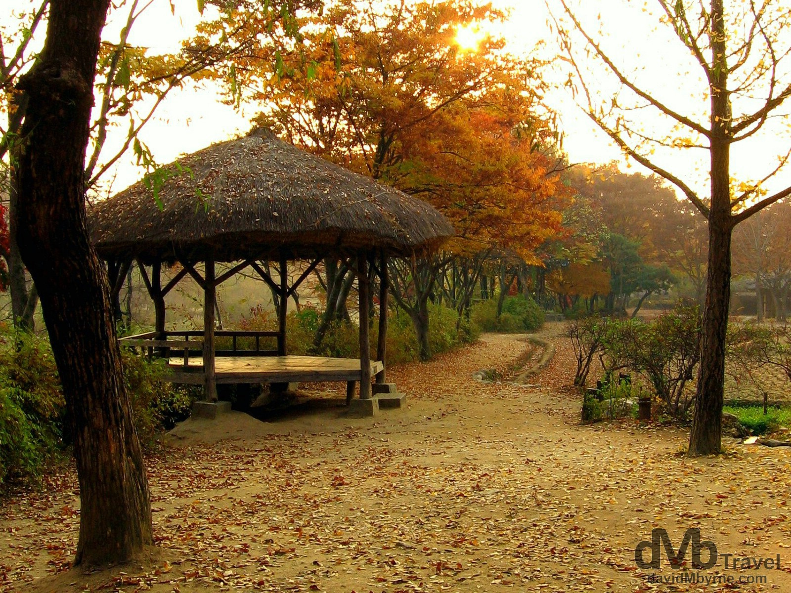 Autumnal scenes at the Folk Village in Yongin, South Korea. November 7th, 2007.