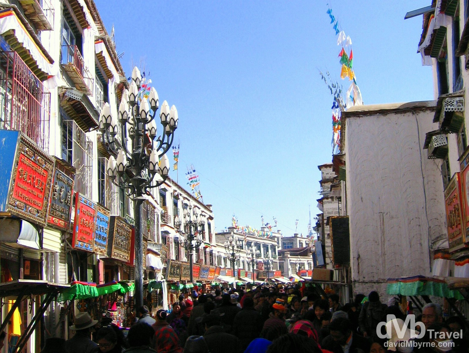 Walking the Barkhor Circuit, Barkhor, Lhasa, Tibet. February 25th, 2008.
