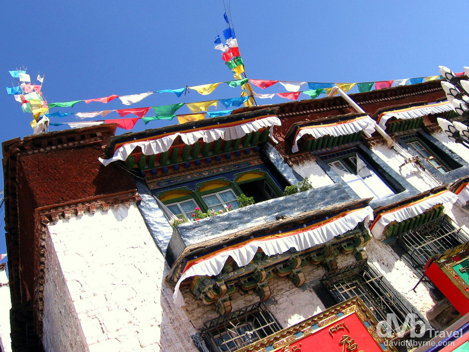 A building in Barkhor, Lhasa, Tibet. February 25th, 2008.