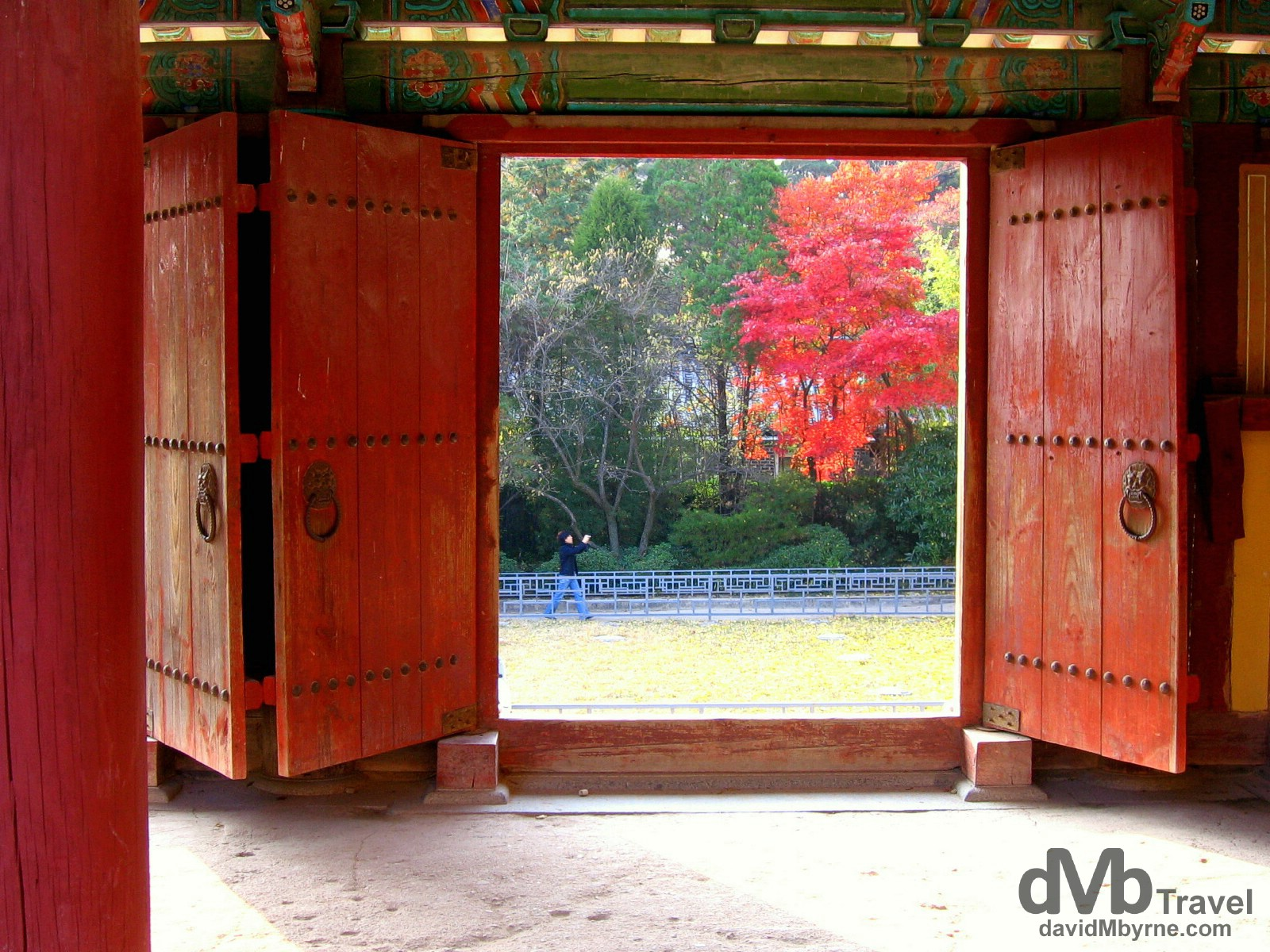 Doors in the grounds of the UNESCO-listed Bulguksa Temple, Gyeongju South Korea. November 10th, 2007.