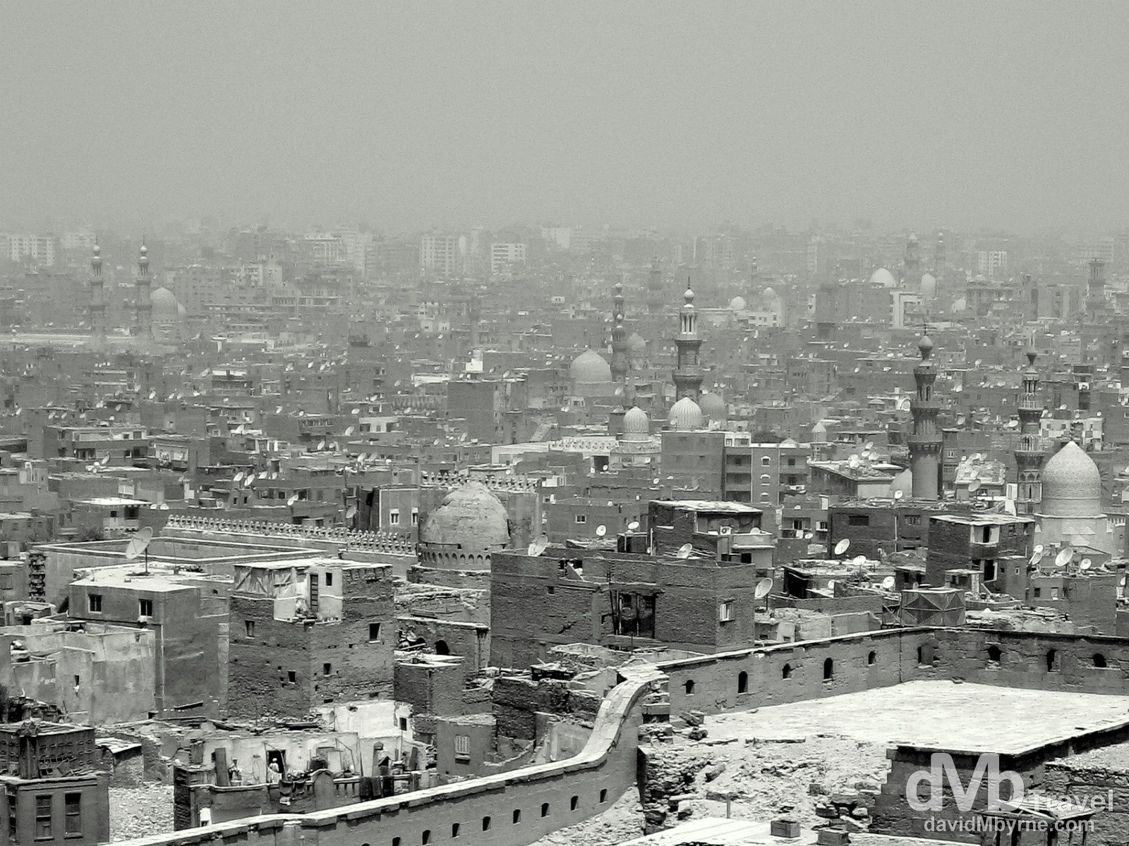 Cairo, Egypt, as seen from the Saladin Citadel. April 14, 2008.