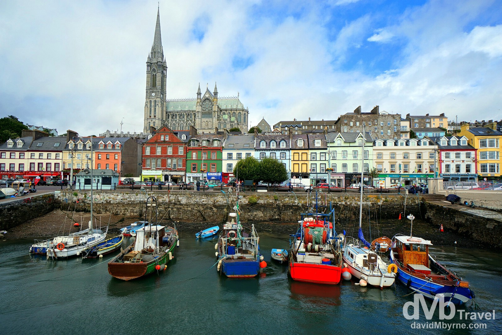 A sheltered section of Cobh Harbour, Co. Cork, Ireland. August 29, 2014.