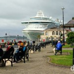The cruise liner Ruby Princess docked in Cobh, Co. Cork, Ireland. August 29, 2014.