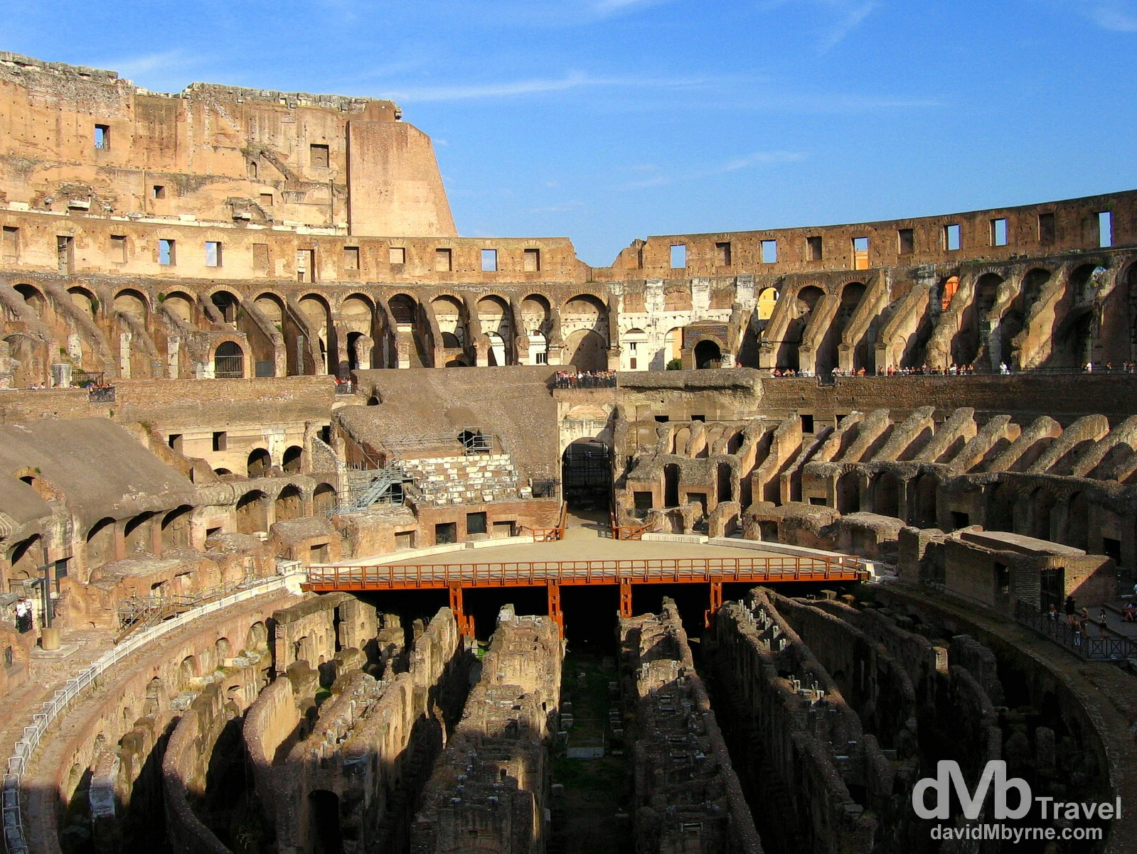 The interior of the Colosseum in Rome, Italy. September 2nd, 2007.