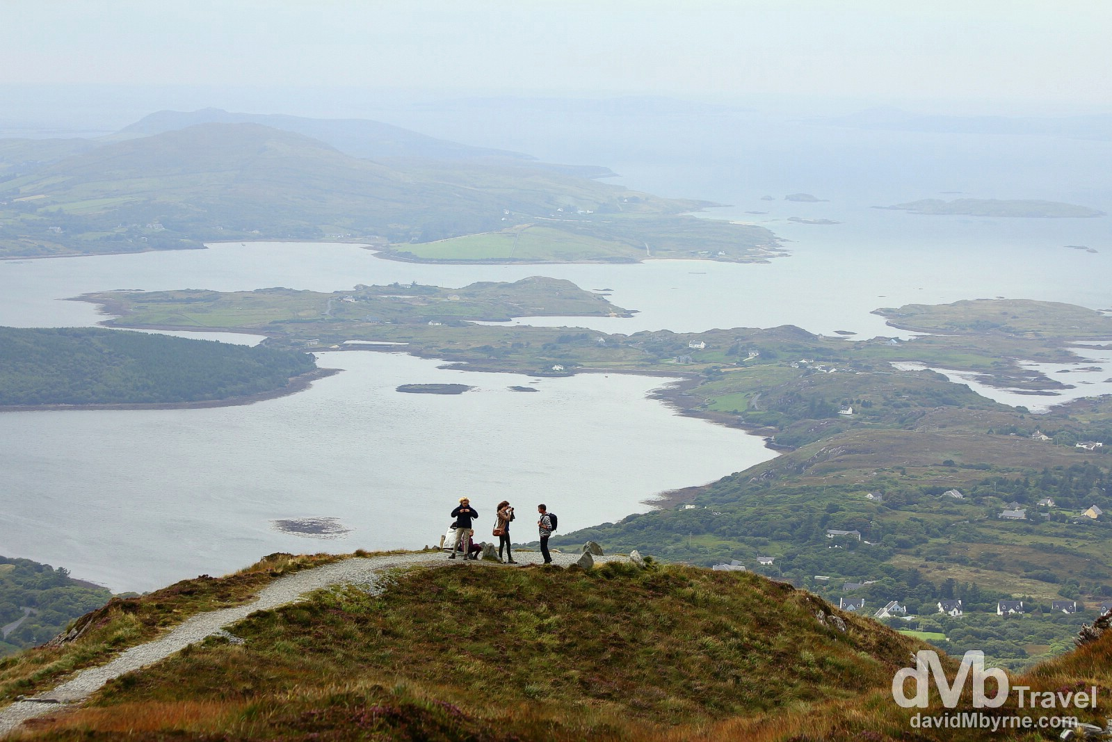 On the Upper Diamond Hill Walk in Connemara National Park, Co. Galway, Ireland. August 26, 2014.