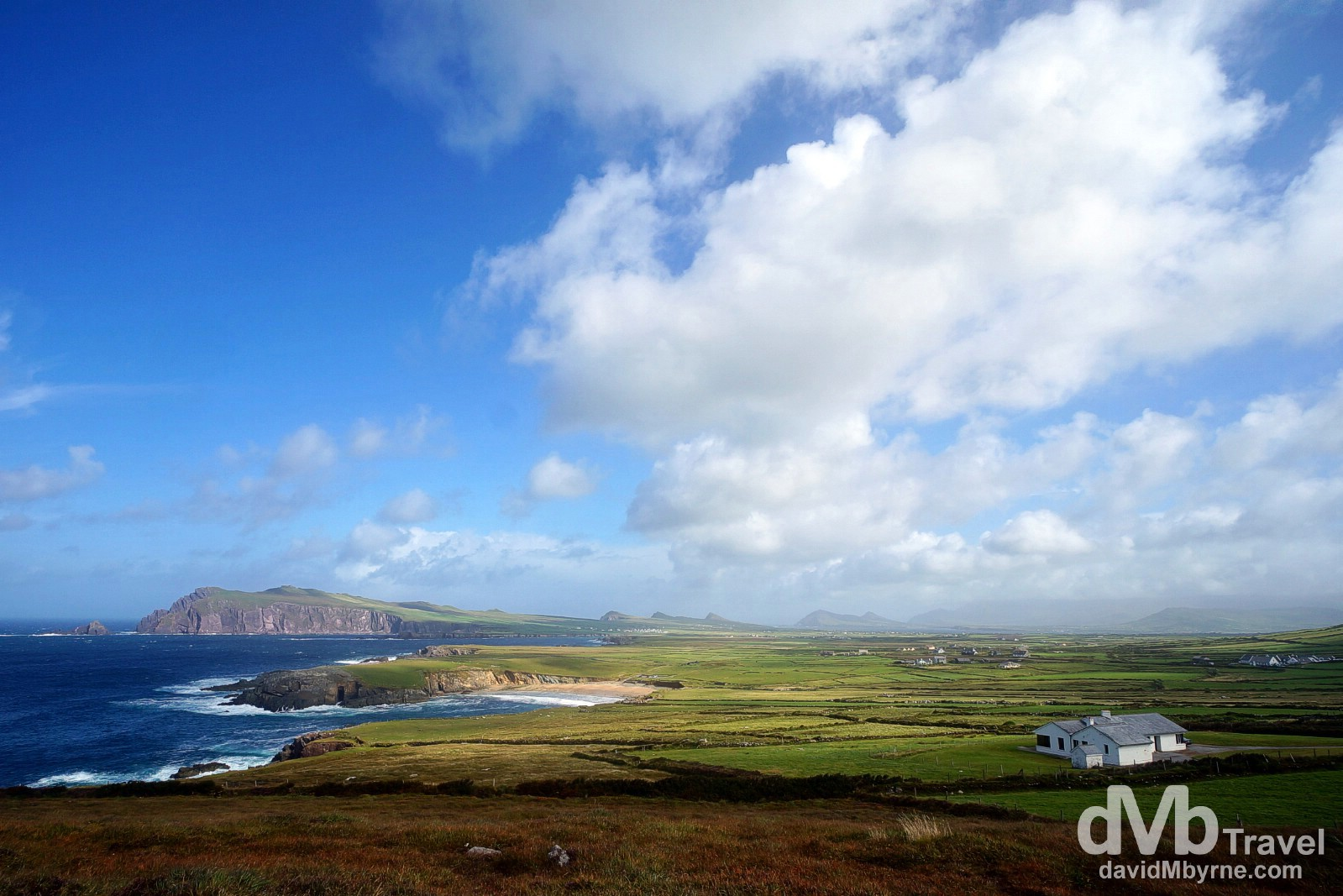 Slea Head scenery on the Dingle Peninsula, Co. Kerry, Ireland. August 28, 2014.