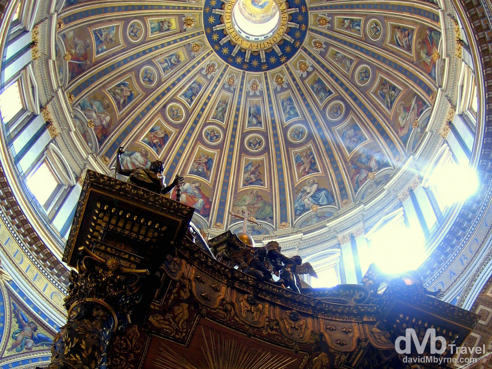 The dome of St. Peter. St. Peter's Basilica, Vatican City. September 1st, 2007.